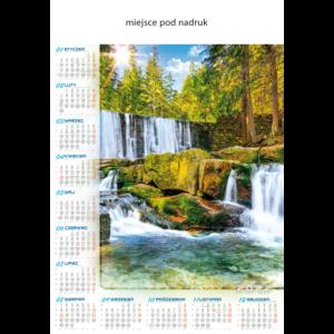kalendarz plakatowy WODOSPAD   B77