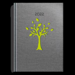 kalendarz książkowy A5 dzienny DRZEWKO SELEDYN | KK32