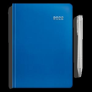 kalendarz książkowy A5 dzienny SZAFIR + długopis | PREZENT01