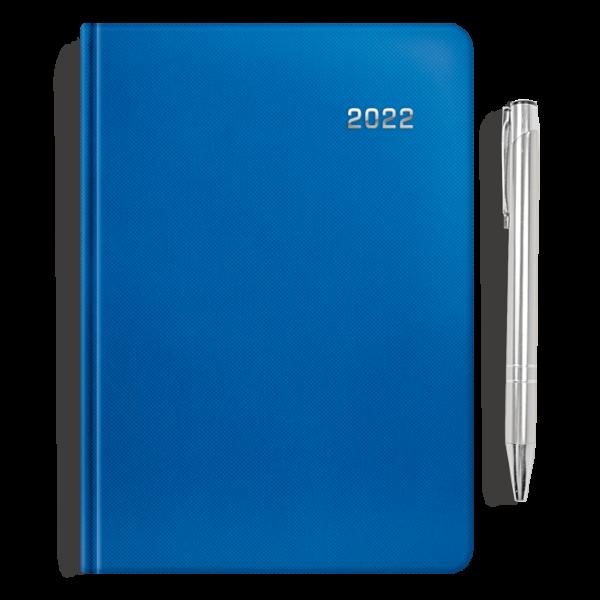kalendarz książkowy A5 dzienny SZAFIR + długopis   PREZENT01