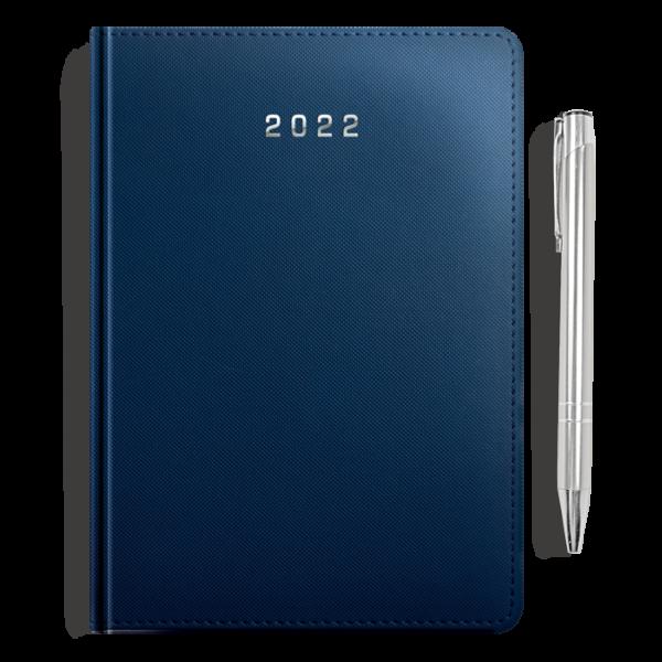 kalendarz książkowy A5 dzienny MATOWY GRANAT + długopis   PREZENT08