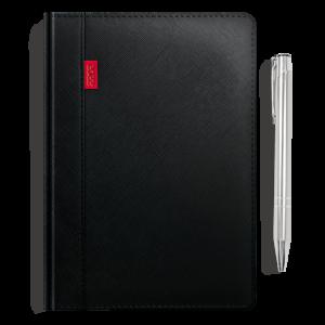 kalendarz książkowy A5 dzienny KRUCZA CZERŃ + długopis | PREZENT15