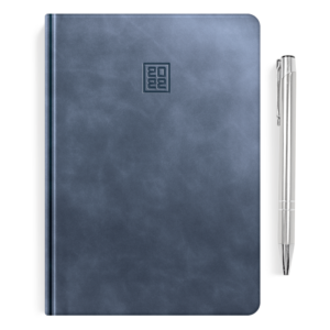 kalendarz książkowy A5 dzienny CHABROWA SZAROŚĆ + długopis   PREZENT18