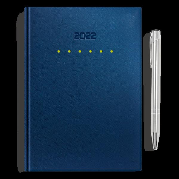kalendarz książkowy A5 dzienny METALIZOWANY GRANAT I SLEDYN + długopis   PREZENT26