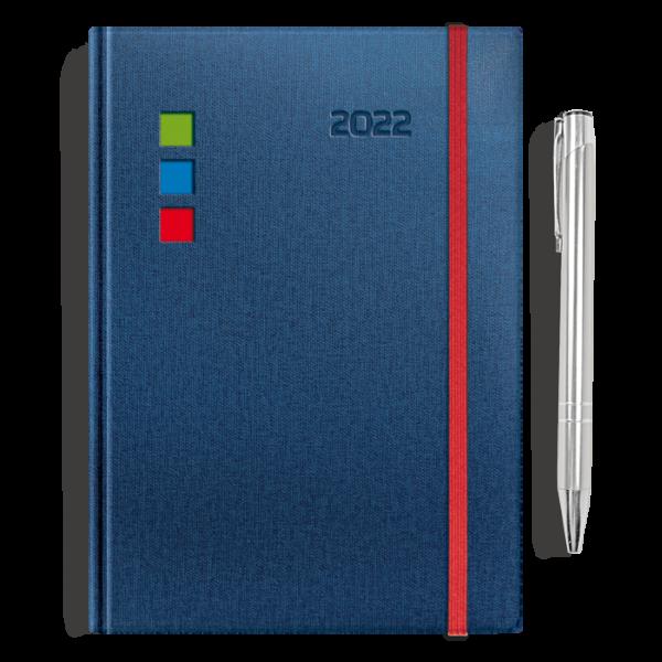 kalendarz książkowy A5 dzienny CHABROWY + długopis   PREZENT27
