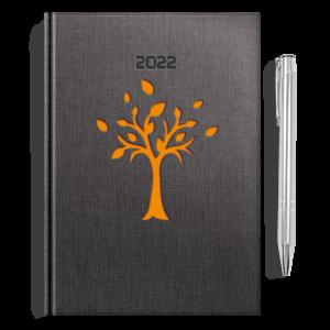 kalendarz książkowy A5 dzienny DRZEWKO POMARAŃCZ  + długopis   PREZENT31