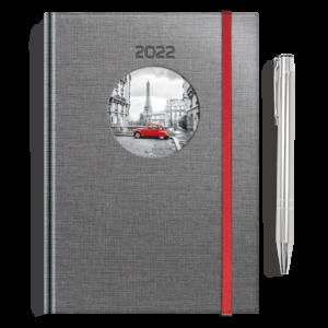kalendarz książkowy A5 dzienny PIĄTY ELEMENT + długopis | PREZENT33