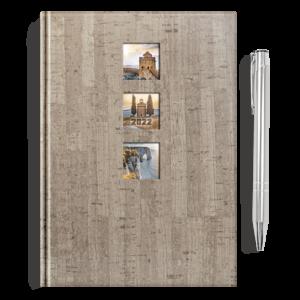 kalendarz książkowy A5 dzienny NATURA + długopis | PREZENT35