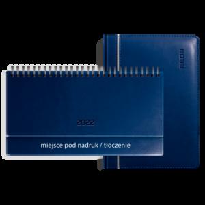 kalendarz książkowy A5 dzienny GRANAT I SREBRO + terminarz biurkowy VIP GRANAT | PREZENT37