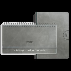 kalendarz książkowy A5 dzienny AKSAMITNY POPIEL+ terminarz biurkowy VIP AKSAMITNY POPIEL | PREZENT39